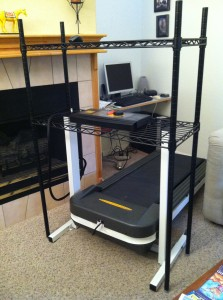 another shot of the test-ready treadmill desk