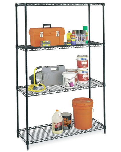 the wire shelving unit that I used for the initial prototype