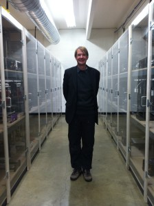 Jeff Moe, founder of Aleph Objects, in his company's 3D printer cluster room
